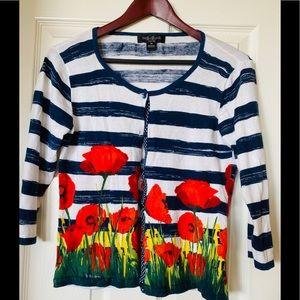 August Silk 100% Cotton light sweater